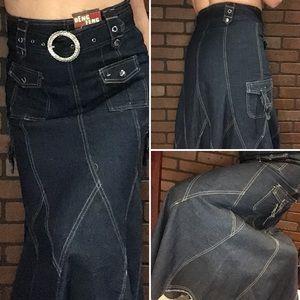 Dresses & Skirts - Long heavy jeans skirt - Waist Sz 30 - great style